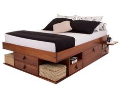 22 Clever Ideas for Multi-Functional Furniture That Are Perfect for Small Spaces Small Bedroom Furniture, Space Saving Furniture, Bed Furniture, Pallet Furniture, Furniture Design, Bedroom Decor, Furniture Projects, Cama Queen Size, Beds For Small Spaces