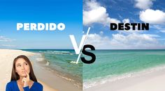 We compare and contrast Perdido Key and Destin, two popular Gulf Coast beach destinations.  And, we even declare a winner on our travel blog. If you are thinking about a beach vacation, you need to check this out! Gulf Coast Beaches, Due South, Perdido Key, Compare And Contrast, Destin Beach, Fishing Villages, White Sand Beach, Us Travel, Underwater