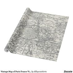 Vintage Map of Paris France Vicinity (1841) Wrapping Paper
