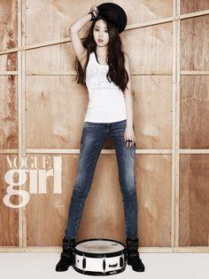 Sohee becomes a rocker for VOGUE Girl #allkpop #Wondergirls #fashion