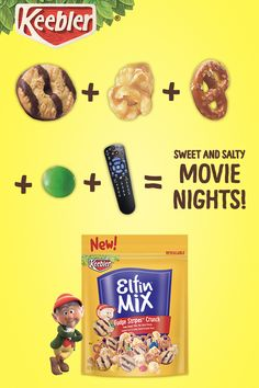 Add a little sweet and salty to family time with new Keebler Elfin Mix. Fun Foods To Make, Food To Make, I Love Food, Good Food, Yummy Food, Easter Appetizers, Cadbury Chocolate, Sweet And Salty, Candy Recipes