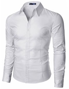 c93c5a33baa Doublju Mens Wrinkle Free Dress Shirts at Amazon Men s Clothing store  Button  Down Shirts Chemise