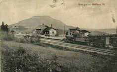 Oppland fylke Gran kommune Hadeland Brandbu Bleiken Station. Stemplet 1928