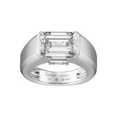 Ring for Hubby - Platinum, diamonds - Fine Engagement Rings for women - Cartier