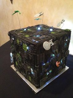 I need this cake. Resistance is Futile: Star Trek Borg Cube Wedding Cake