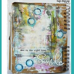 Our amazing @maremis_small_art is up on the #lindysgang blog today with a full tutorial using this month's color challenge colors! #lindys #artjournaling #mixedmedia #sprays