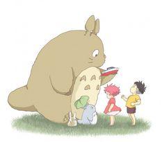 Tags: Anime, Fanart, Gake no Ue no Ponyo, My Neighbor Totoro, Studio Ghibli