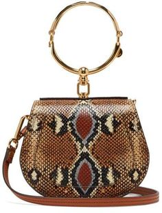 7dd69e2fb51d Must Have Handbags Chloé Chloe - Nile Small Python Effect Leather Cross  Body Bag -