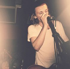 Jamie Campbell Bower at the mic
