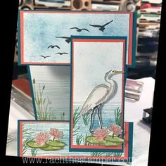Lily Pad Lake peek through card & So long to Happiest of Days, Stampin' Up! – Rachthestamper