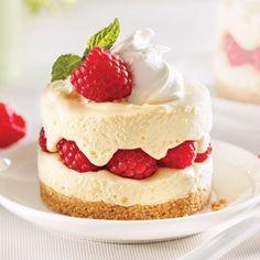 Cheesecakes au citron et framboises - Recettes - Cuisine et nutrition - Pratico Pratique