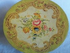 Hand Painted Divided Dish with Original Paper Mache by TinkrGems, $28.00