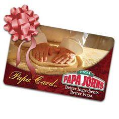 Papa John's Pizza Gift Card https://www.facebook.com/papajohnspizzausa