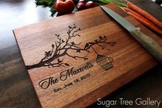 Personalized Cutting Board Wedding Established by SugarTreeGallery, $39.95 Christmas, wedding gift, house warming gift, anniversary gift