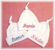 Personalized Baby Hats by babyobaby.com. Let baby be the envy of the entire maternity ward!