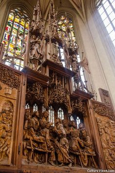 Altar of the Holy Blood carved by Tilman #Riemenschneider in St. Jacob's church, #Rothenburg ob der Tauber, #Germany.