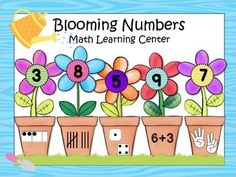 Blooming Numbers Math Center-Just in time for Earth day!