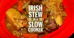 Irish Stew in a Slow Cooker