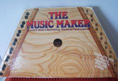 Vintage Music Maker Musical Lap Harp wooden with music sheets