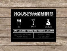 Housewarming modern retro invitation