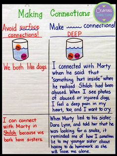 Crafting Connections: Anchors Away Monday Making Deep Connections! Help students understand the difference between a deep connections and a surface connection. {Includes a FREEBIE}