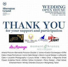 A big gratitude and thanks to all participants for who gave their support to our Wedding Open House event last week. See you at next event!