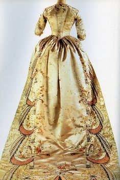 Marie Antoinette Dress- The dress was attributed to Marie-Antoinette based on the knowledge that it came from the atelier of the Queen's celebrated fashion merchant, Rose Bertin.
