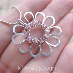 Wire Jewelry Tutorial JEWELLED FLOWERS 4 by KSJewelleryDesigns