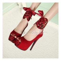 Shop Platform Stiletto Heel Peep-toes Wedding Prom Shoes on sale at Tidestore with trendy design and good price. Come and find more fashion Pumps here. High Heel Pumps, Red High Heel Shoes, Lace Up High Heels, Platform Stilettos, Peep Toe Platform, Womens High Heels, Pumps Heels, Stiletto Heels, Red Heels