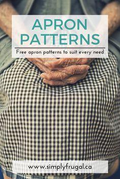 Free apron patterns, free sewing patterns