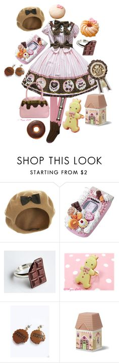 """""""Melty Cocoa"""" by cuppykins ❤ liked on Polyvore featuring Miss Selfridge, Hello Kitty, lolita, SweetLolita and lolitafashion"""