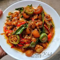 Resep masakan menu buka puasa Ramadhan Instagram Malay Food, Ramadan Recipes, Indonesian Food, Kung Pao Chicken, Diy Food, Tofu, Dessert Recipes, Food And Drink, Cooking Recipes