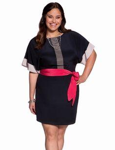 Contrast Colorblock Dress from eloquii.com