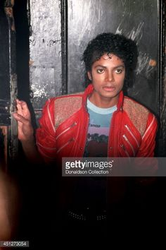 Singer Michael Jackson backstage at the Shubert Theatre in Century City at the opening night for the show 'Dream Girls' on March 20, 1983 in Los Angeles, California.