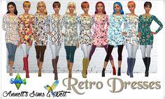 Annett's Sims 4 Welt: Retro Dresses