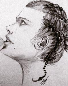 Pencil drawing. Black&White.