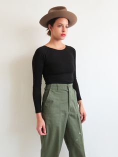 Military Trousers // Vintage Green Army Pants SOLD