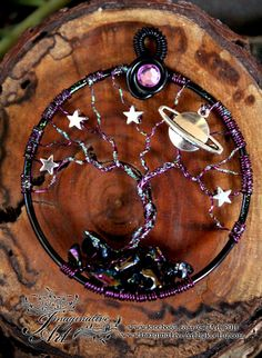 Tree of Life - Galaxy Tree with Stars and Planet by ImaginativeArtbyJo on Etsy