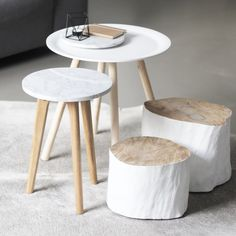 Table | Zuiver | White Stone | Marble