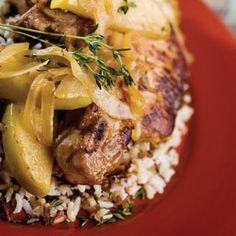 Harvest Pork Chops in the Slow Cooker