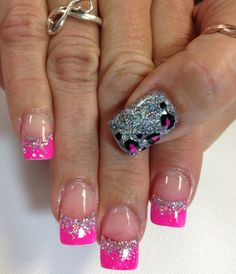 Nail Designs on Pinterest | Hello Kitty Nails, Leopard Nails and Gel