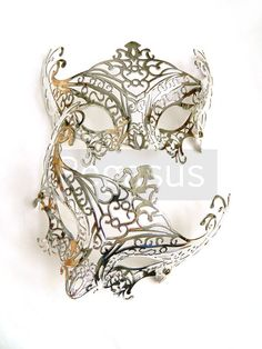 Silver Mask base (1 Mask) Metallic Silver Lace Filigree Pattern Venetian Mask  - Masquerade ball costume or elven wedding on Etsy, $6.00