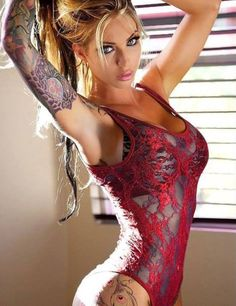 #tattoo #blonde beauty