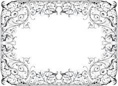 Antique Fancy Leaves Frame via The Graphics Fairy
