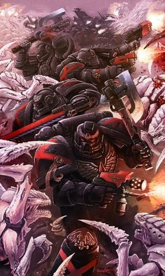 Рота Смерти. Warhammer 40k, warhammer, adeptus astartes, Blood Angels, Death Company, длиннопост