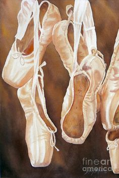 Watercolor Painting - After The Dance Sold Prints Available by Sandy Brindle Ballet Studio, Ap Studio Art, Ballet Painting, Painting Shoes, Art Watercolor, Ballet Photos, Expressive Art, Still Life Art, Ap Art