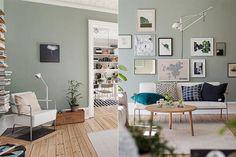 Colores esfumados, una tendencia para decorar la casa  Un verde clarísimo con una cuota de gris... ¿o un gris con una cuota de verde? Éste es el juego que nombrábamos antes sobre los grises a los que se les aplica un tono para darle cierto matiz.         Foto:Urbannesting.wordpress.com