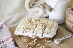 Carrot Cake/ Worteltjestaart Glutenvrij & Lactosevrij | Eindelijk een worteltjestaart die je zonder schuldgevoel of buikpijn kunt eten. Maak 'm nu!