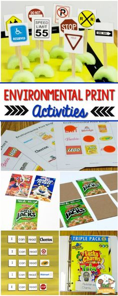 Environmental Print Activities for PreschoolYou can find Environmental print and more on our website.Environmental Print Activities for Preschool Emergent Literacy, Kindergarten Literacy, Kindergarten Classroom, Early Education, Early Childhood Education, Special Education, Environmental Print, Name Activities, Preschool Literacy Activities
