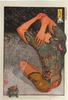 Edo Pop: The Graphic Impact of Japanese Prints.  Artist is Paul Binnie.